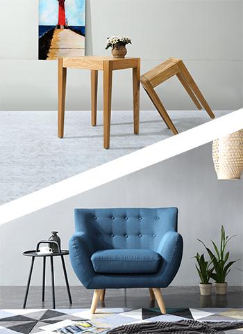 Tables POENG + Fauteuil Ro Bleu Pétrole